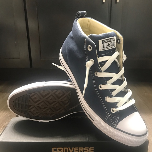 Converse Other - NAVY BLUE CONVERSE ALL STAR CHUCK TAYLOR MID TOP! 376398a15
